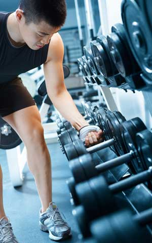 Lifting weight for physical benefits
