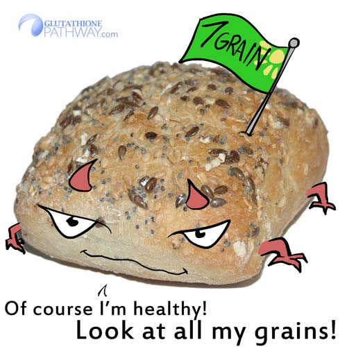 Even 7 Grain Bread may not be what you expect. Check your nutritional facts to find a healthy bread.  (Original bread picture by Pascua Theus on commons.wikimedia.org)